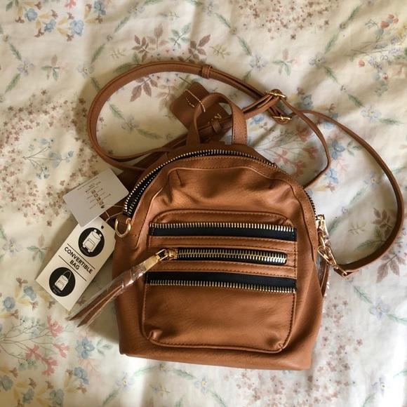 Mms Design Studio Bags Mms Design Studio Vegan Leather Mini Backpack Nwt Poshmark